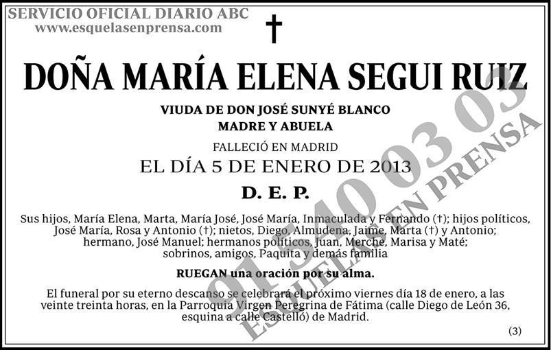 María Elena Segui Ruiz
